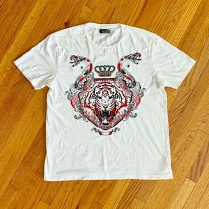 Zara Man Tiger & Snake Embroidered Graphic Tee